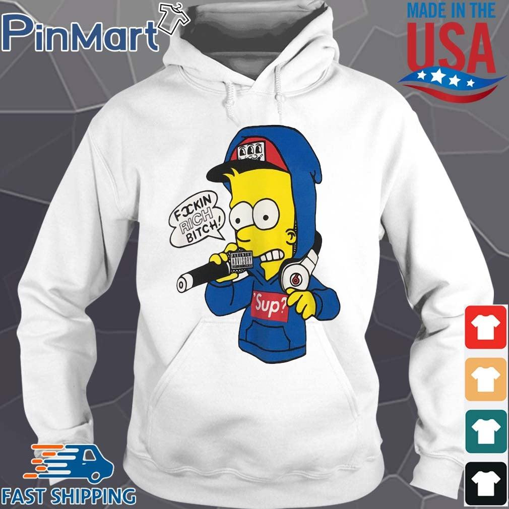 Bart Simpson fuckin rich bitch s Hoodie trang