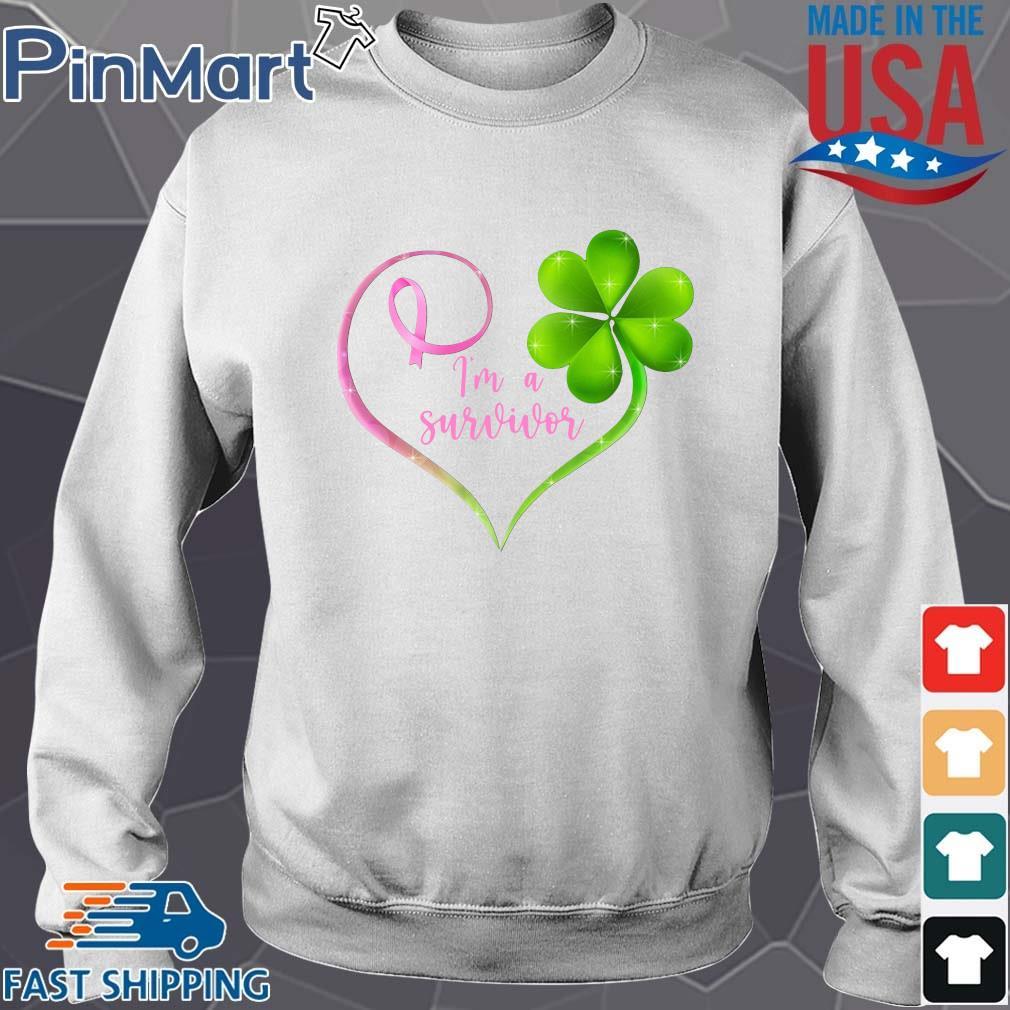 Breast cancer Irish I'm a survivor heart shirt