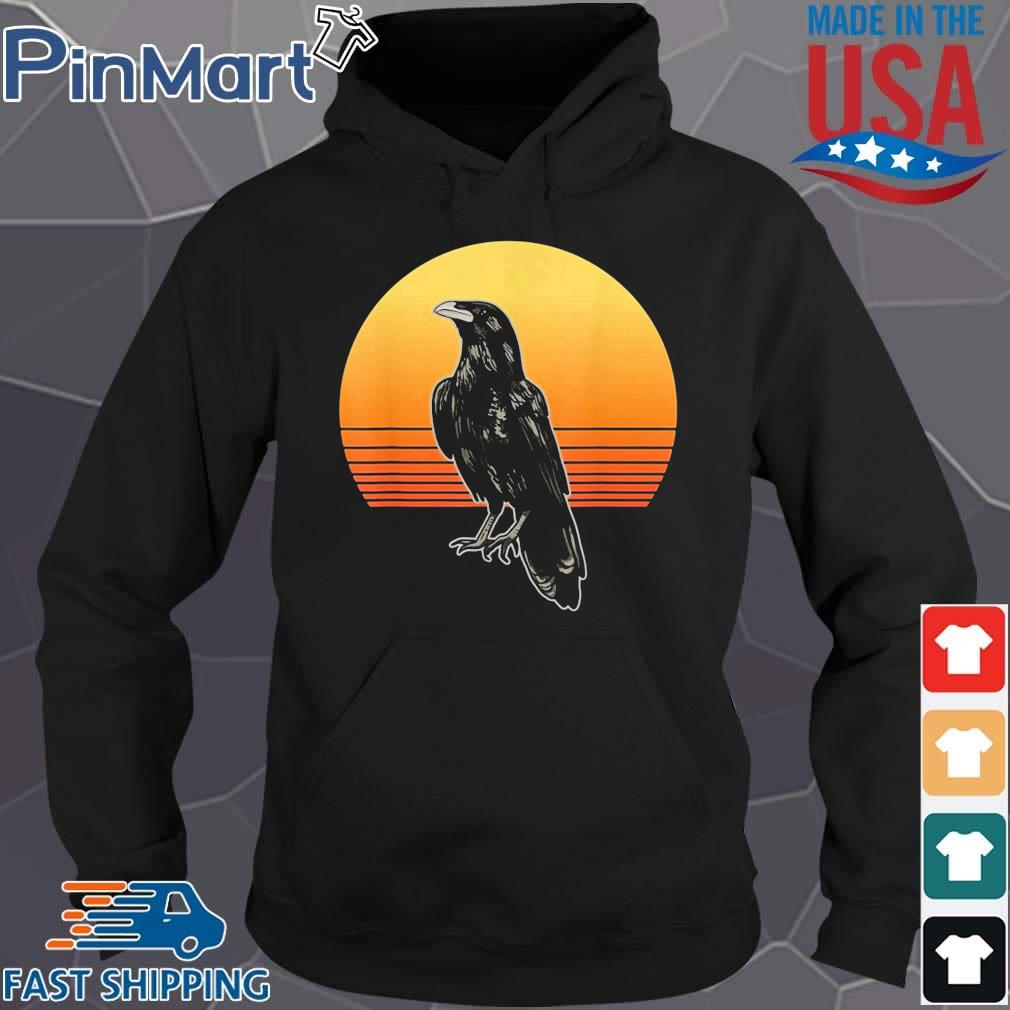 Crow Bird Sun For Crow And Raven Lovers Sunset Shirt Hoodie den