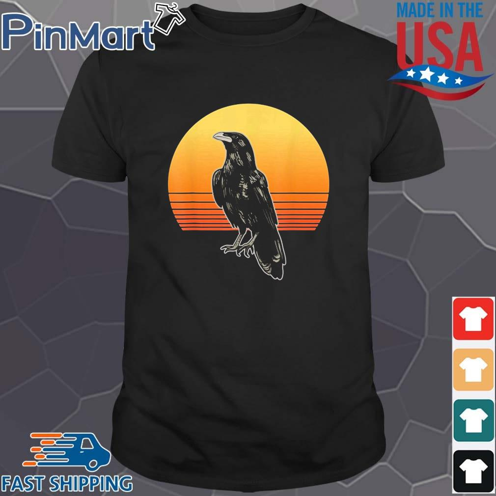Crow Bird Sun For Crow And Raven Lovers Sunset Shirt