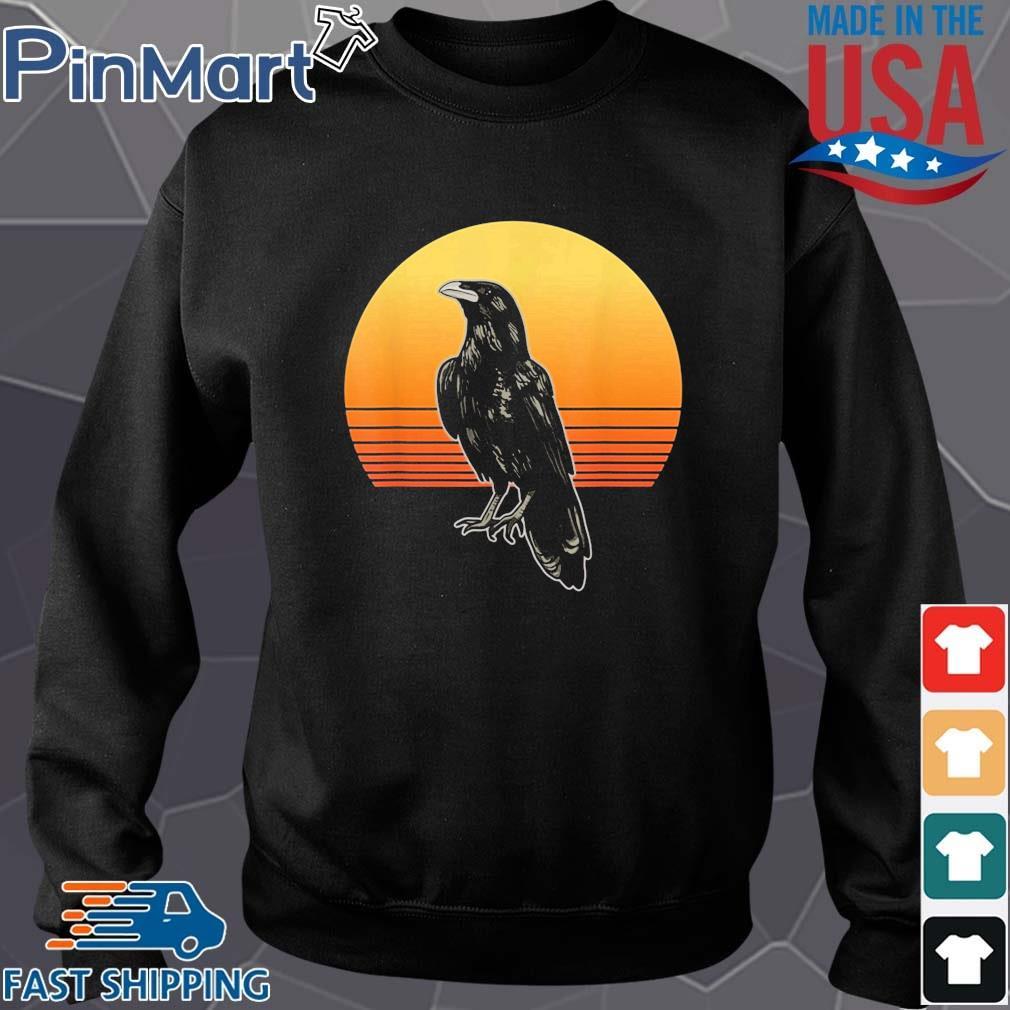 Crow Bird Sun For Crow And Raven Lovers Sunset Shirt Sweater den