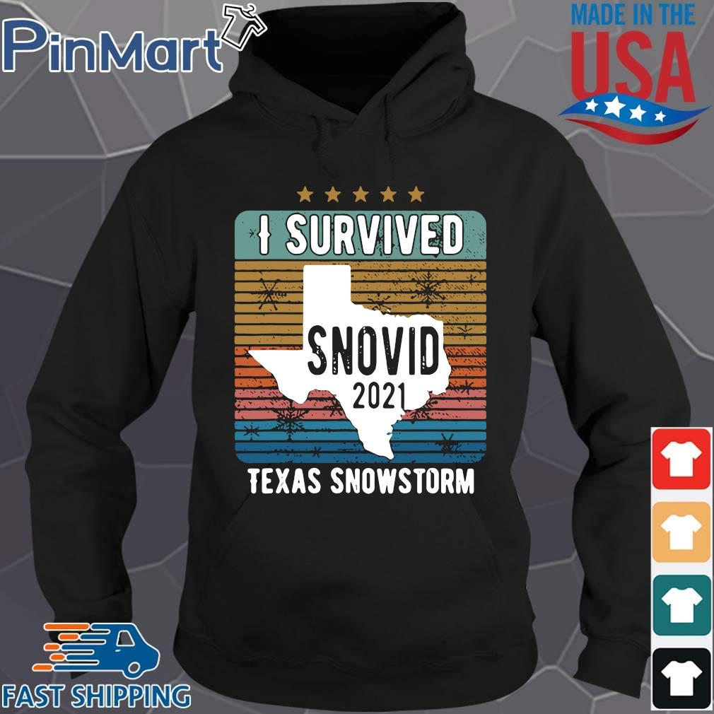 Funny I survived snovid 2021 Texas strong vintage s Hoodie den