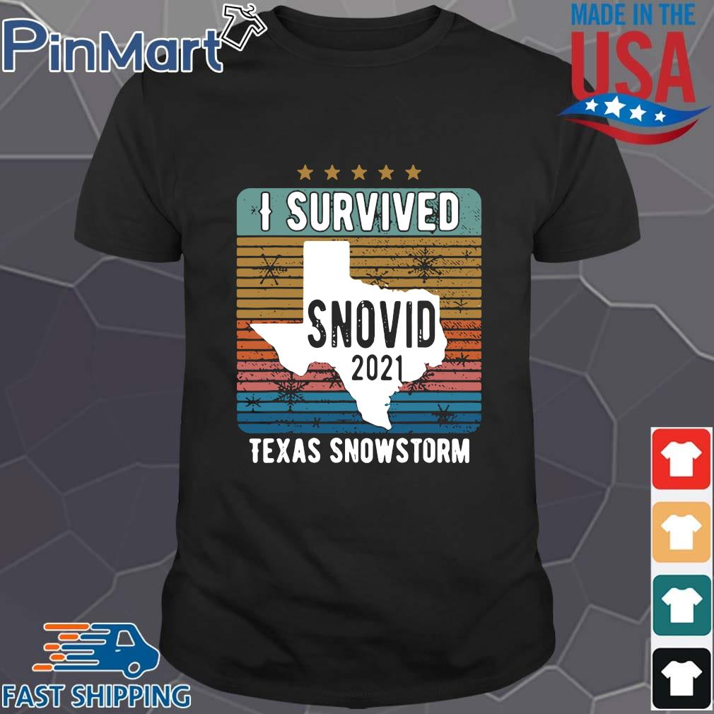 Funny I survived snovid 2021 Texas strong vintage shirt