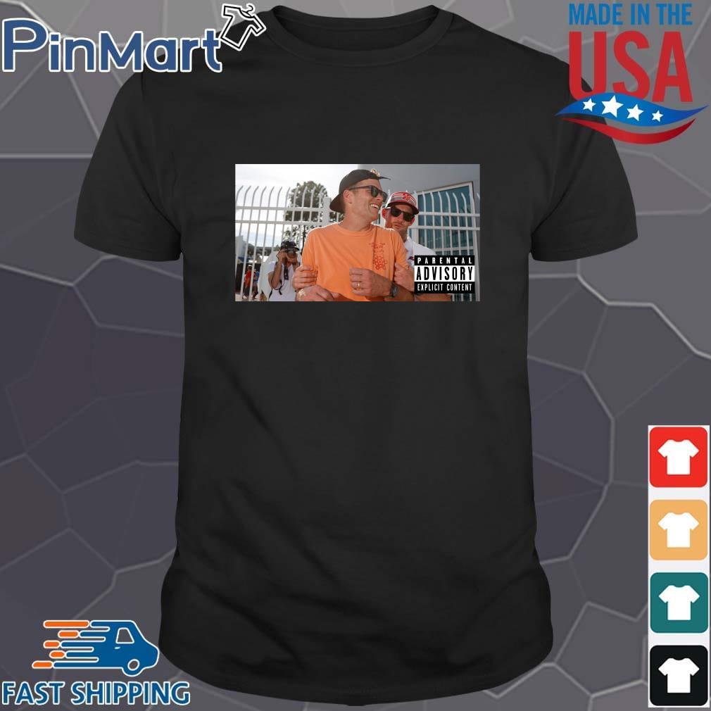 Funny Tom Brady parental advisory shirt