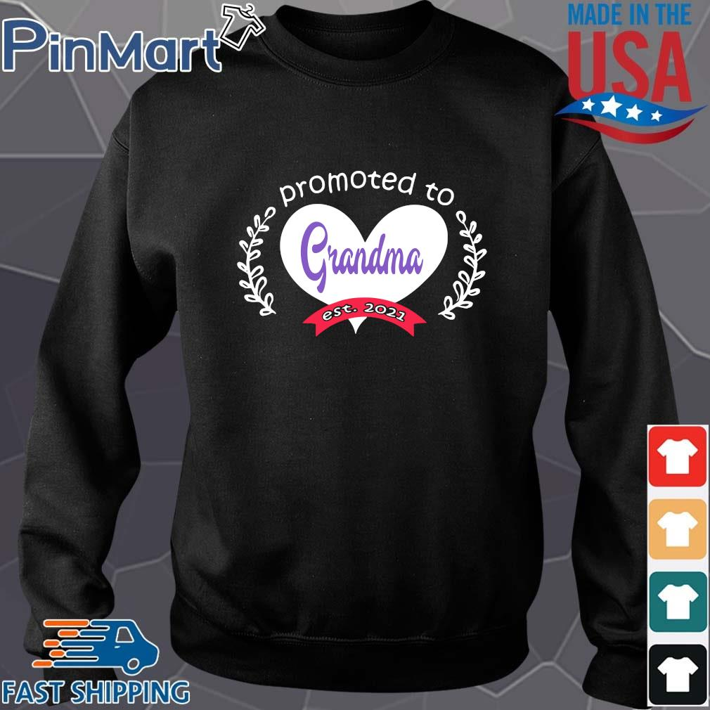 Heart promoted to grandma est 2021 s Sweater den