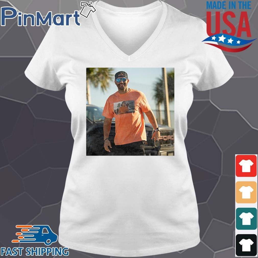 J.D. Martinez Tom Brady Drunk Shirt V-neck trang