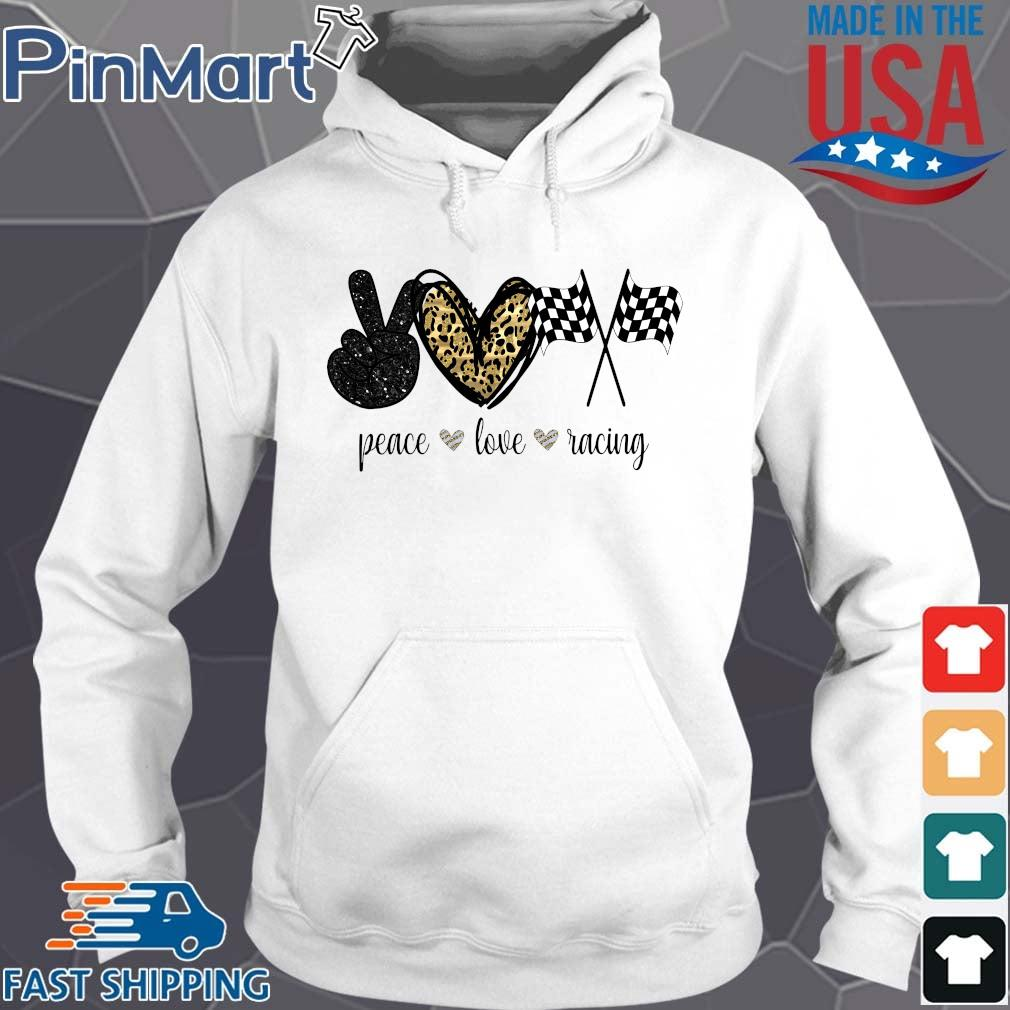 Peace Love Racing Diamond Shirt Hoodie trang