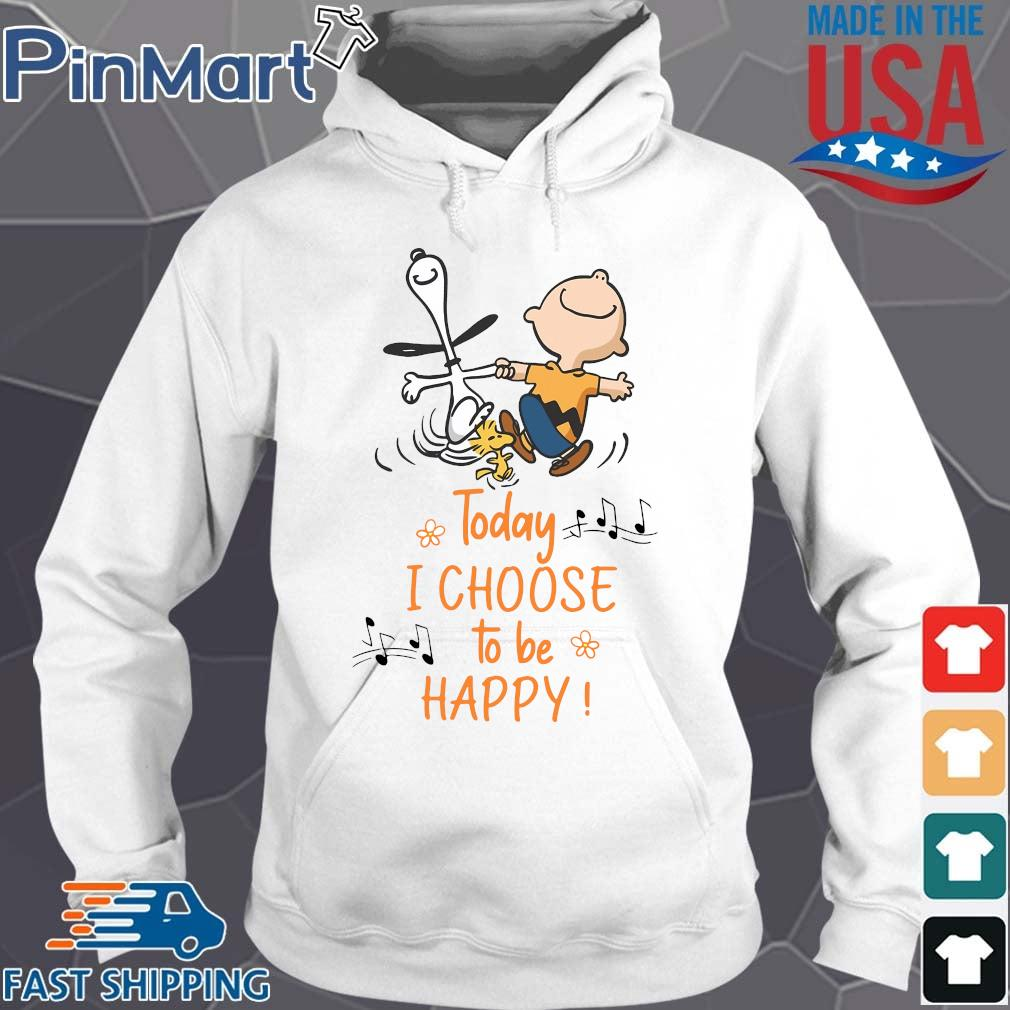 Snoopy Charlie Browns and Woodstock today I choose to be happy s Hoodie trang