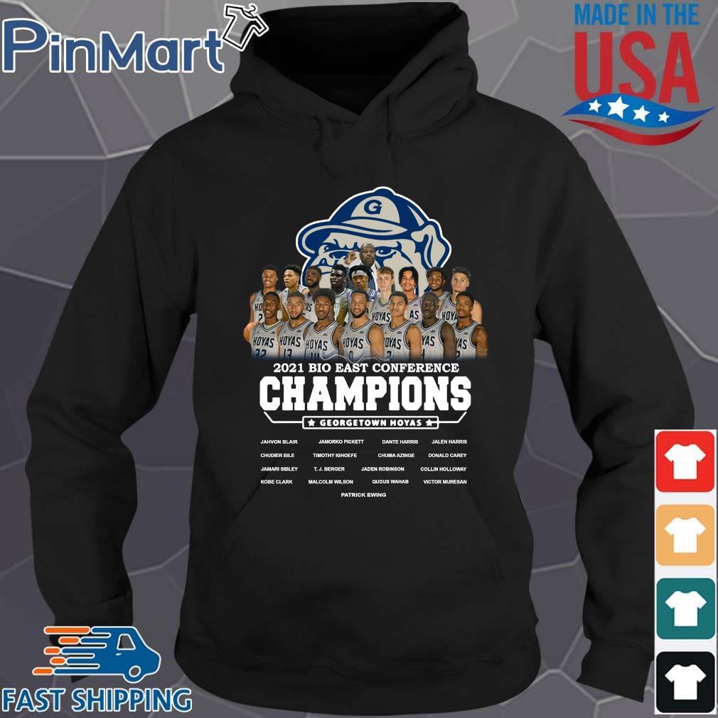 2021 Bio East Conference Champions Georgetown Hoyas Shirt Hoodie den