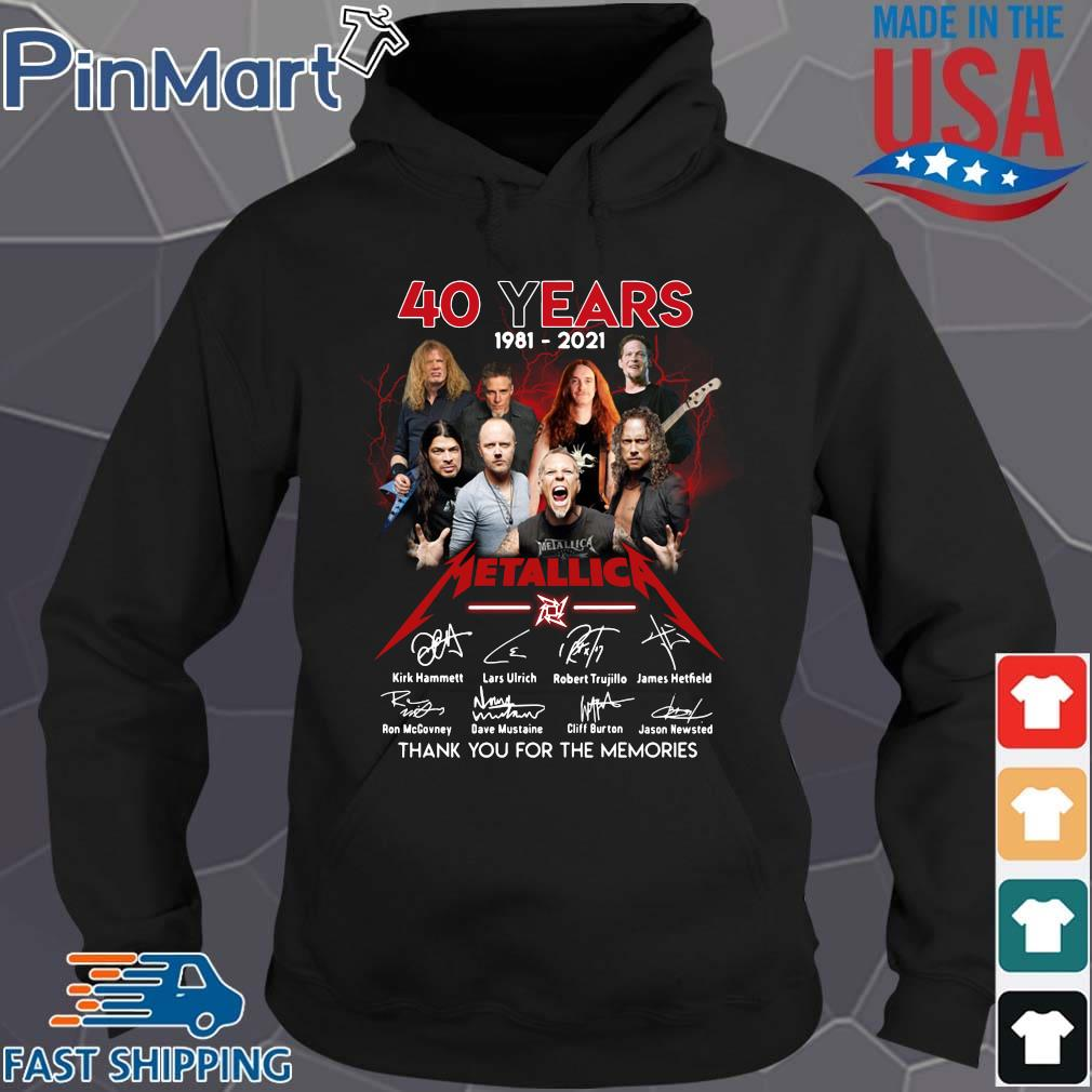 40 years 1981-2021 Metallica signatures thank you for the memories Hoodie den