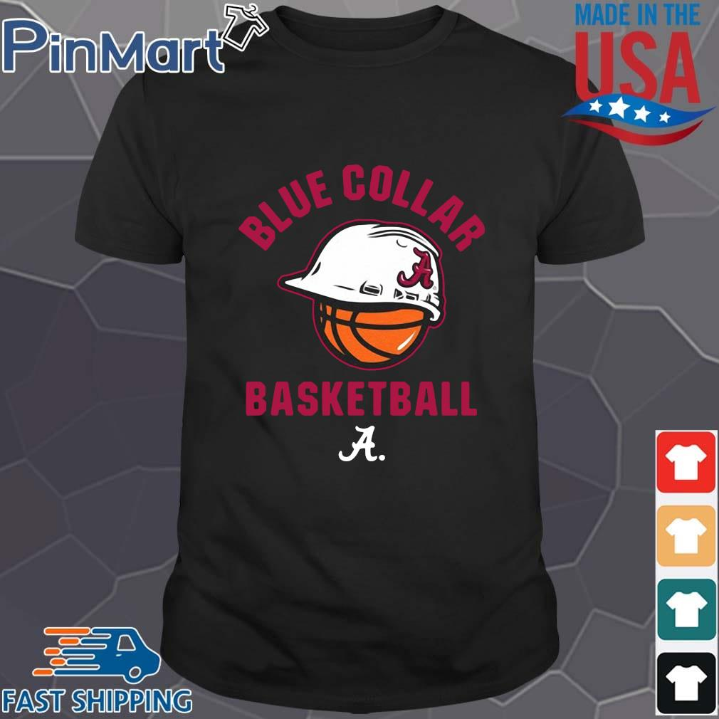 Alabama Crimson Tide blue collar basketball shirt