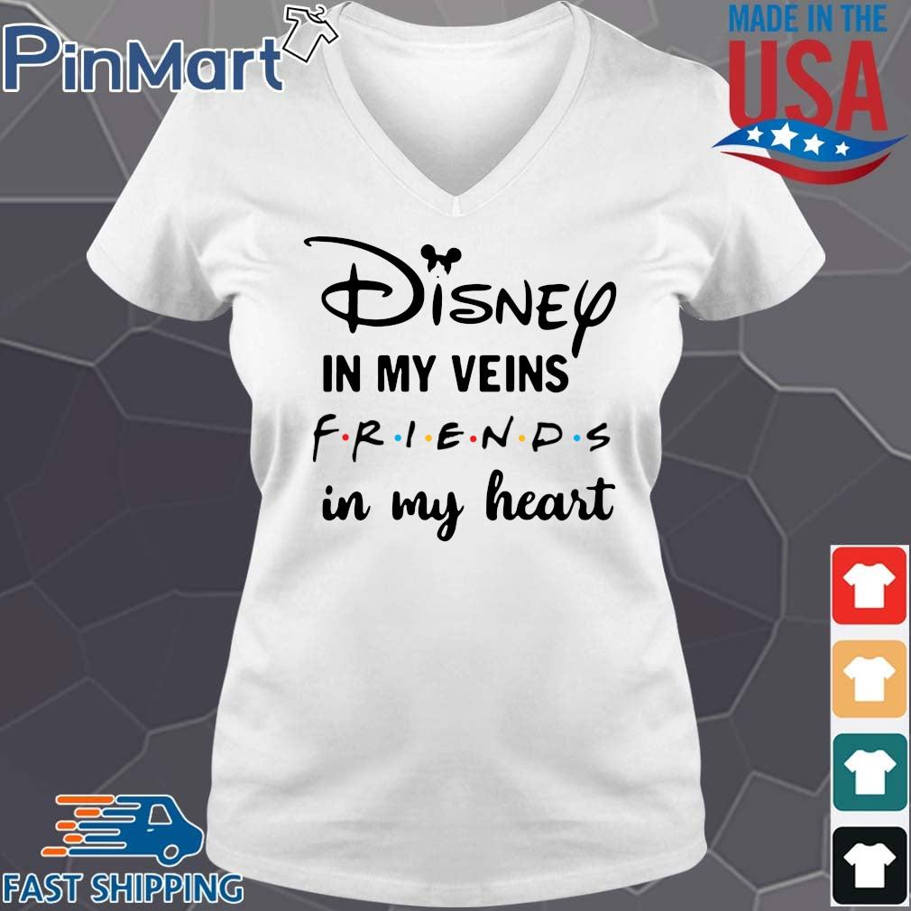 Disney in my veins friends in my heart V-neck trang