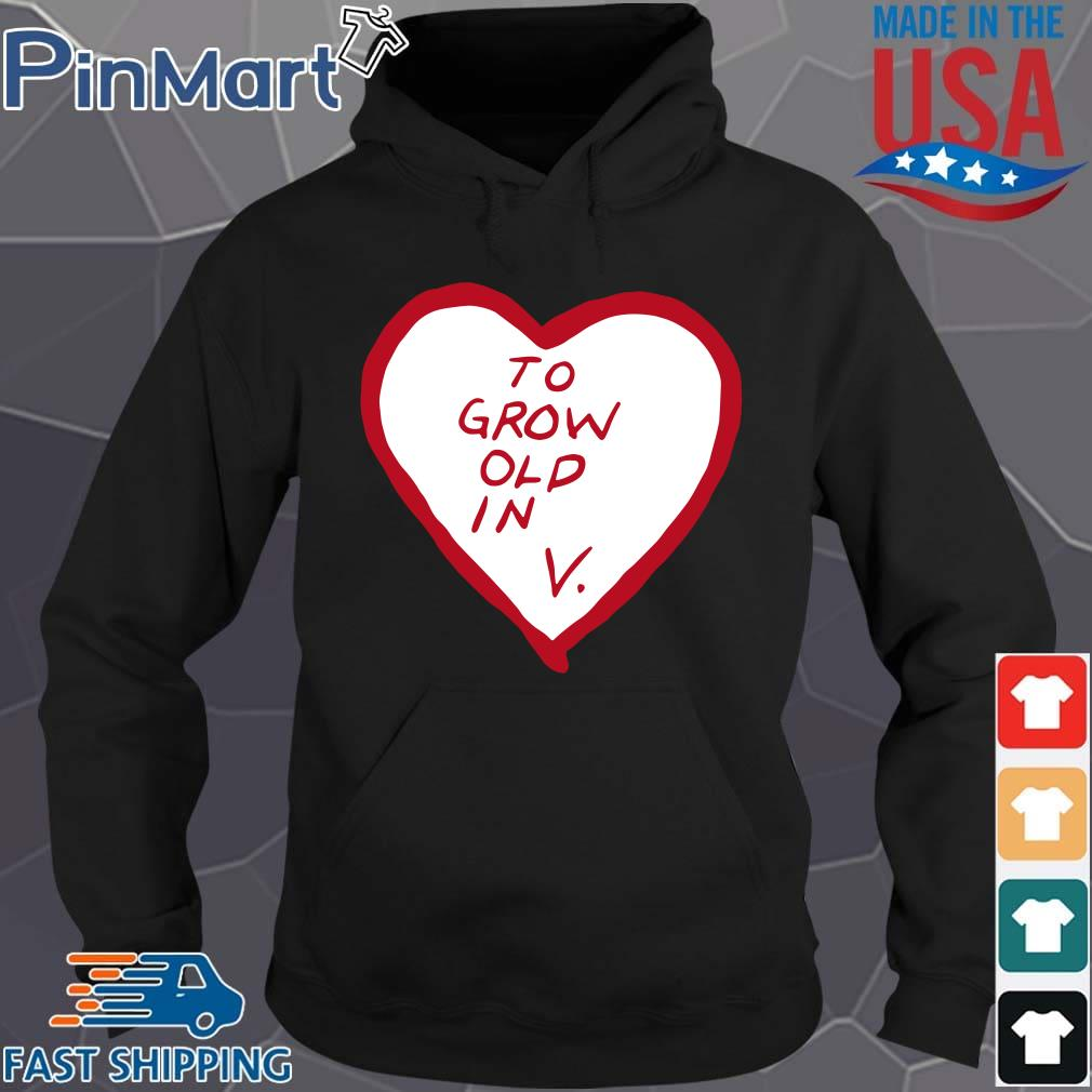 To grow old in heart Hoodie den