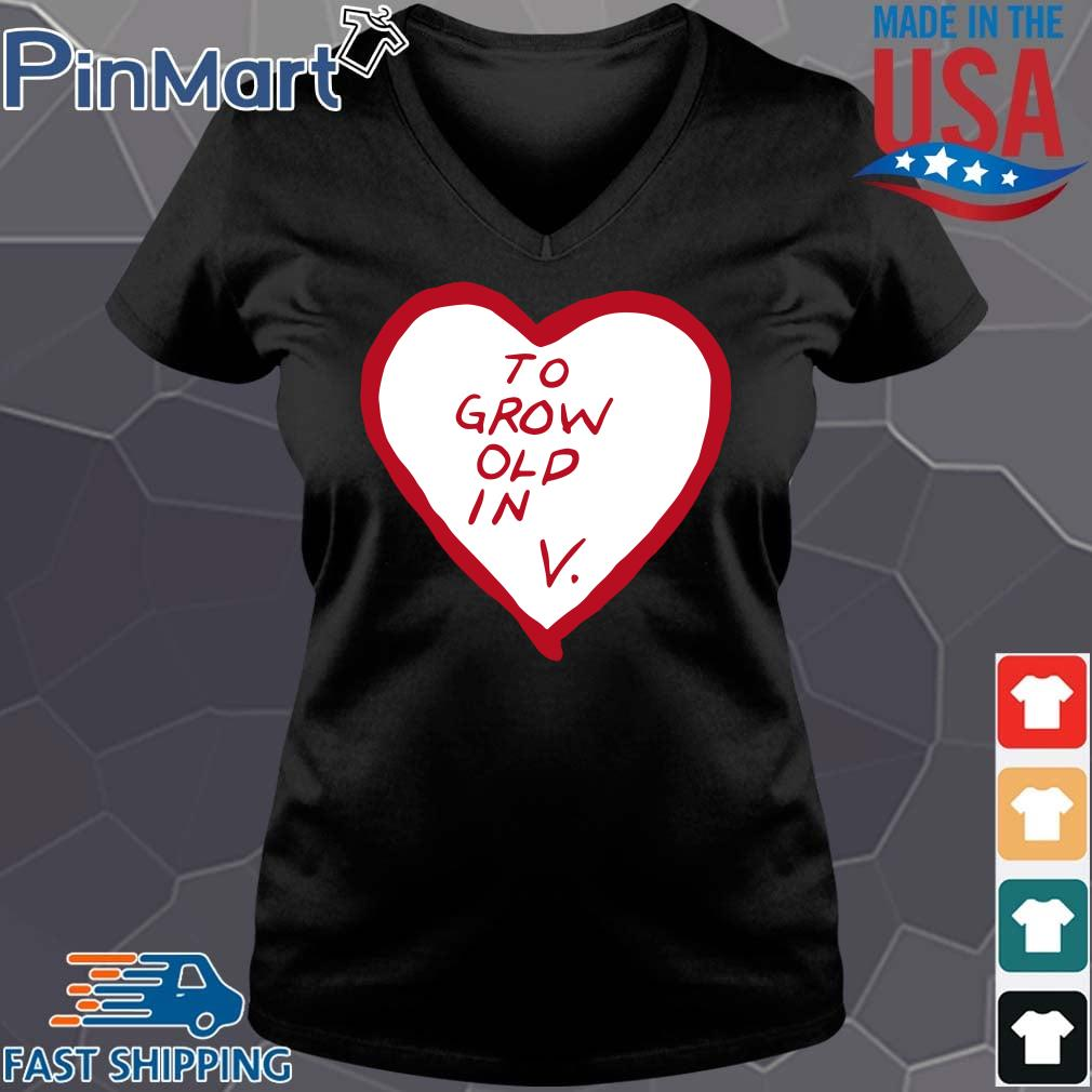 To grow old in heart Vneck den