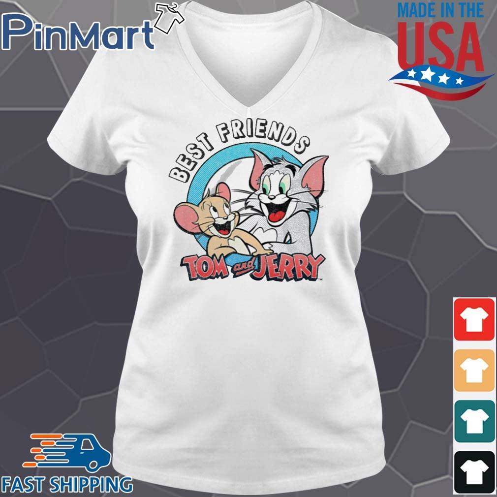 Tom And Jerry Best Friends Shirt V-neck trang