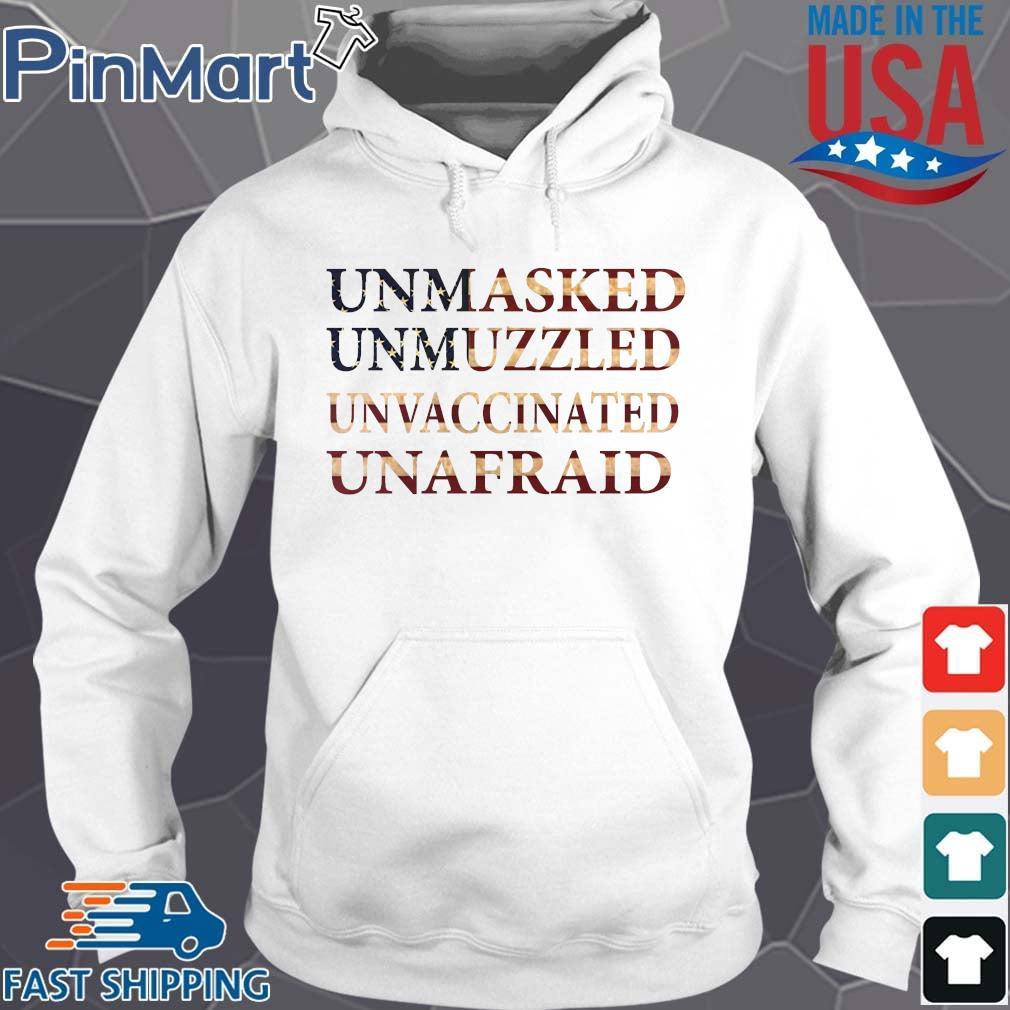 American flag unmasked unmuzzled unvaccinated unafraid s Hoodie trang