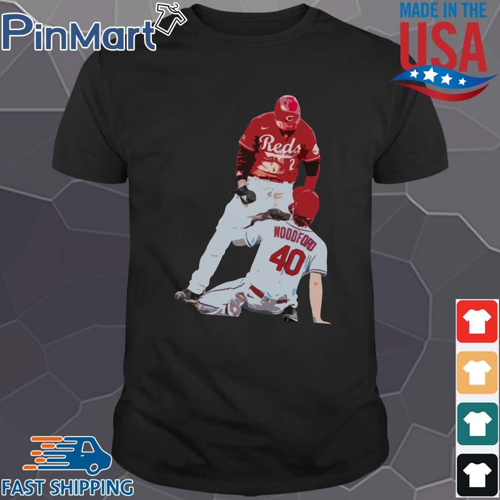 Cincinnati Reds Nick Castellanos Vs Cardinals Jake Woodford T-Shirt