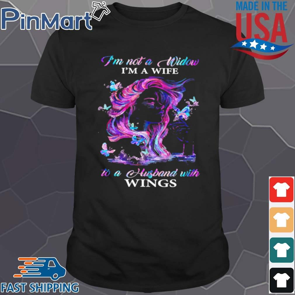 I'm not a window I'm a wife to a husband with wings shirt