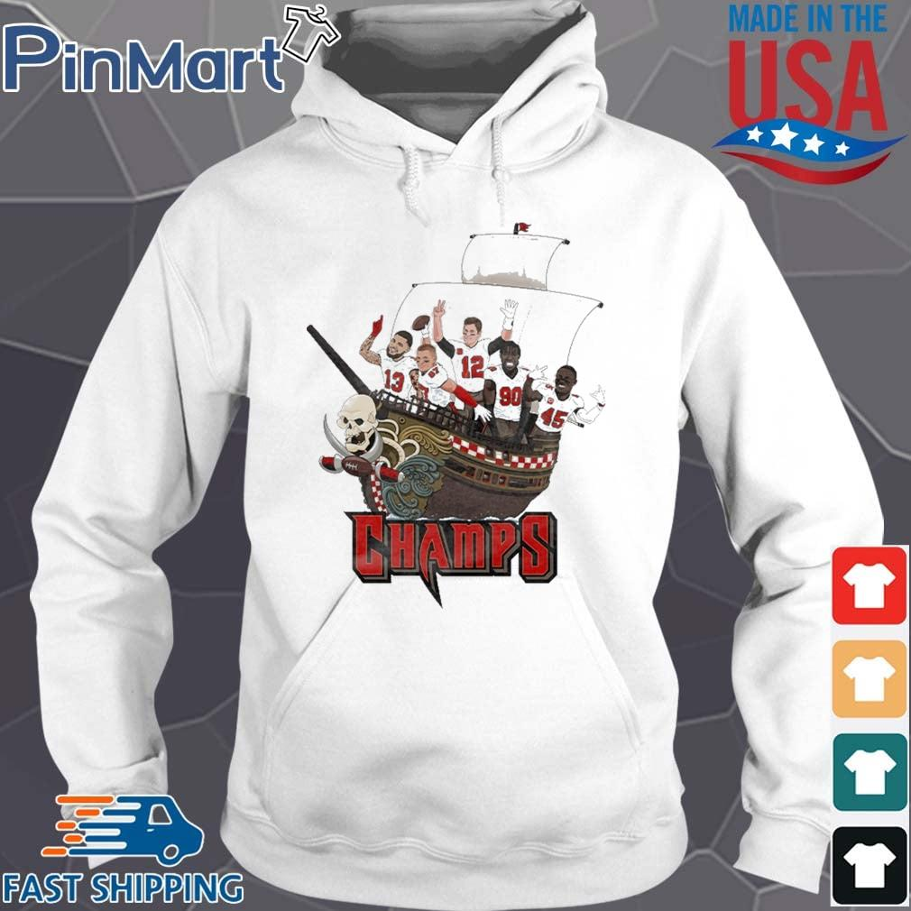 Tampa Bay Buccaneers Team Players Pirates Champs Shirt Hoodie trang