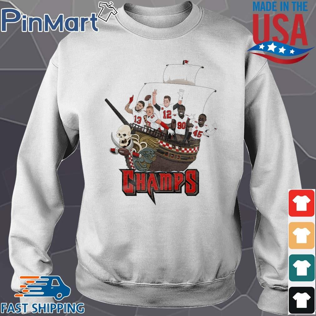 Tampa Bay Buccaneers Team Players Pirates Champs Shirt Sweater trang