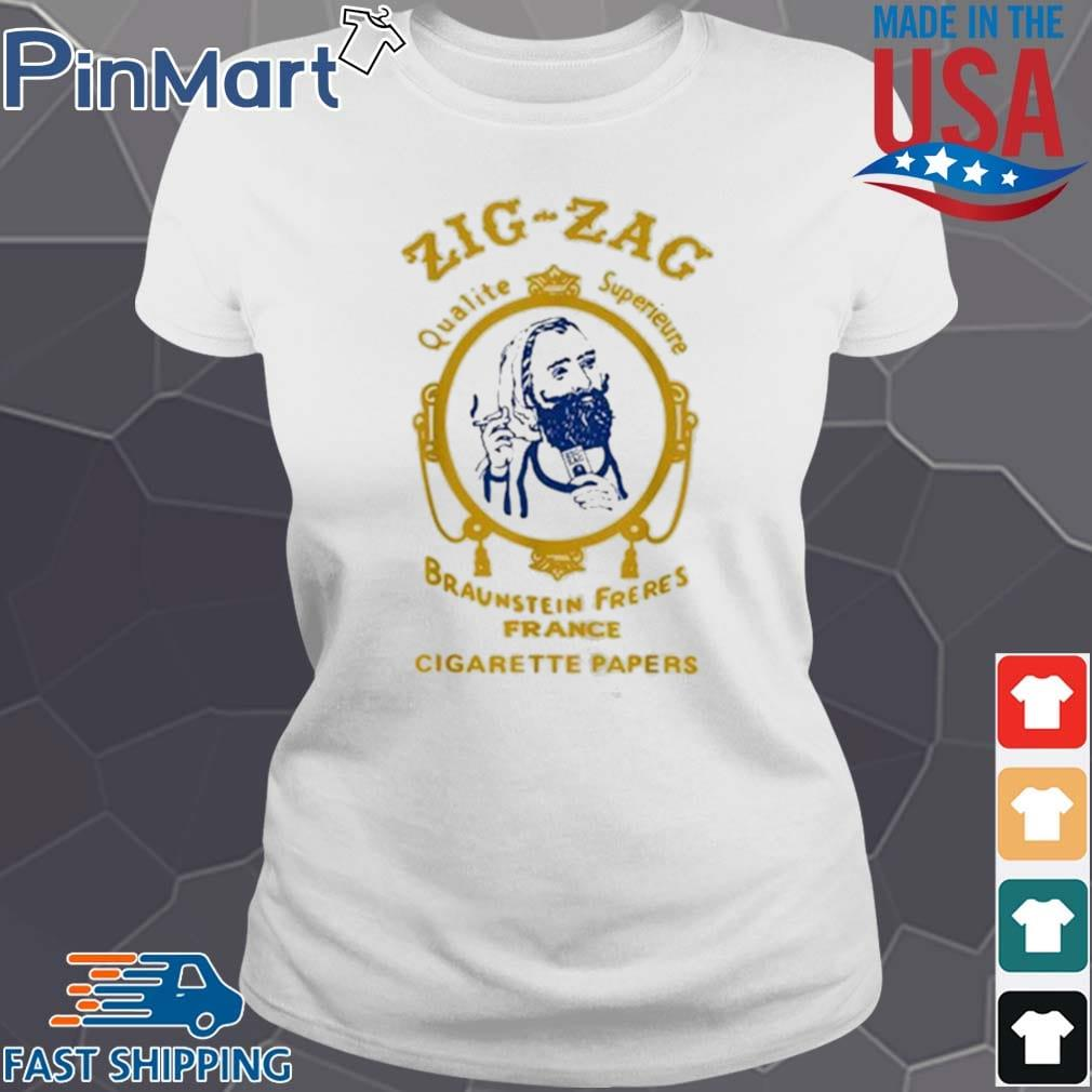 Zigzag Braumsteim Freres France Cigarette Papers Smoking Weed Cigarettes Shirt Ladies trang