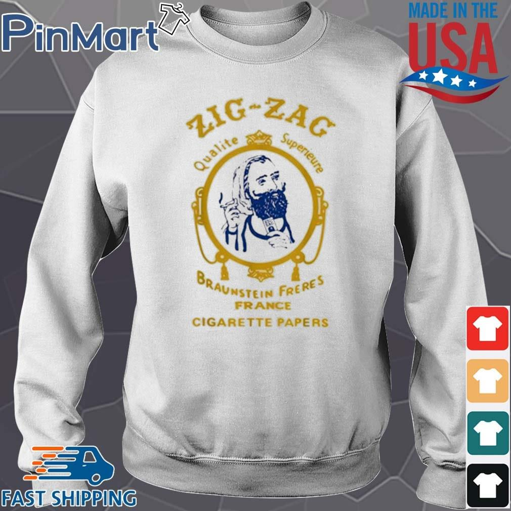 Zigzag Braumsteim Freres France Cigarette Papers Smoking Weed Cigarettes Shirt Sweater trang