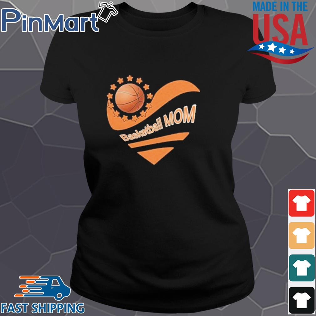Basketball mom heart american flag independence day s Ladies den