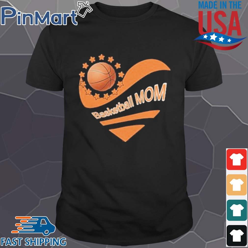 Basketball mom heart american flag independence day shirt