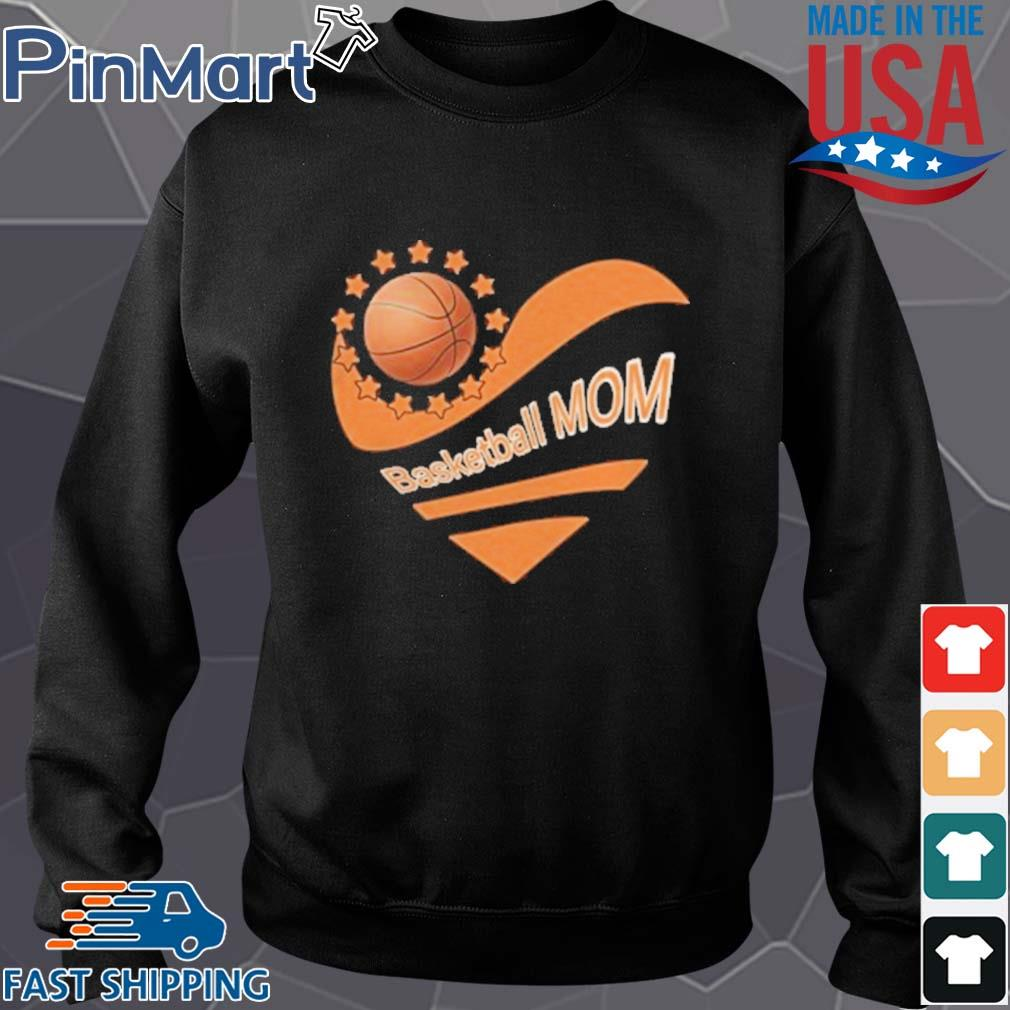 Basketball mom heart american flag independence day s Sweater den