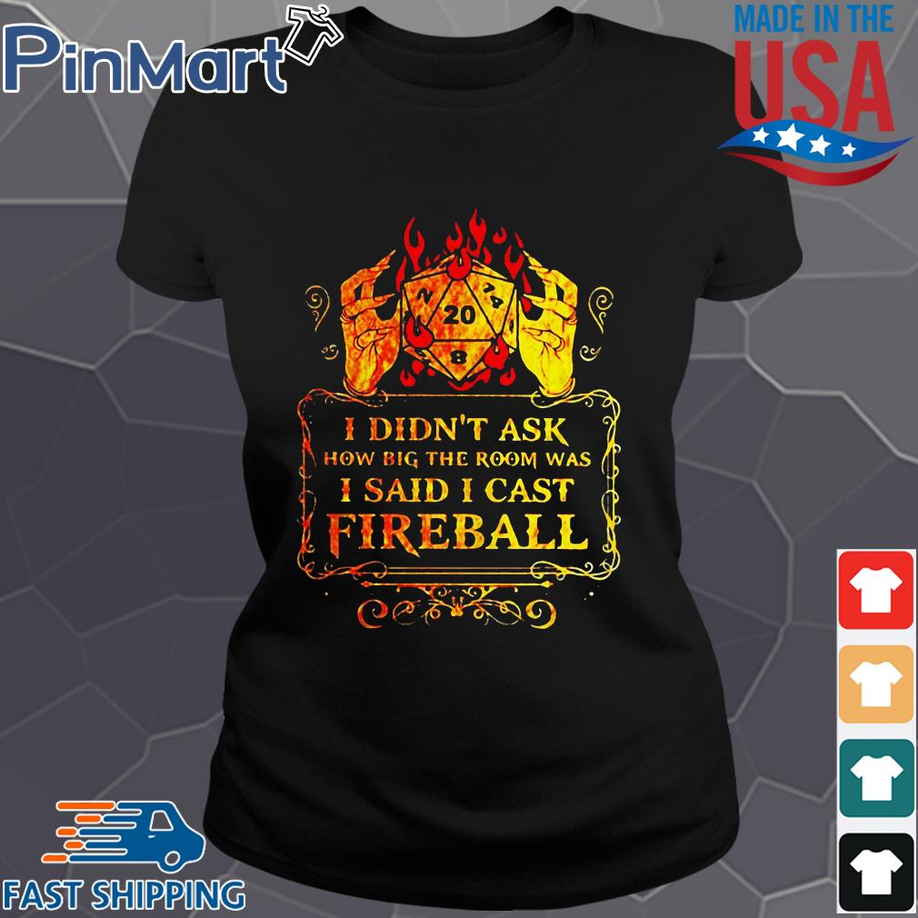 Dungeons I didn't ask how big the room was I said I cast fireball s Ladies den