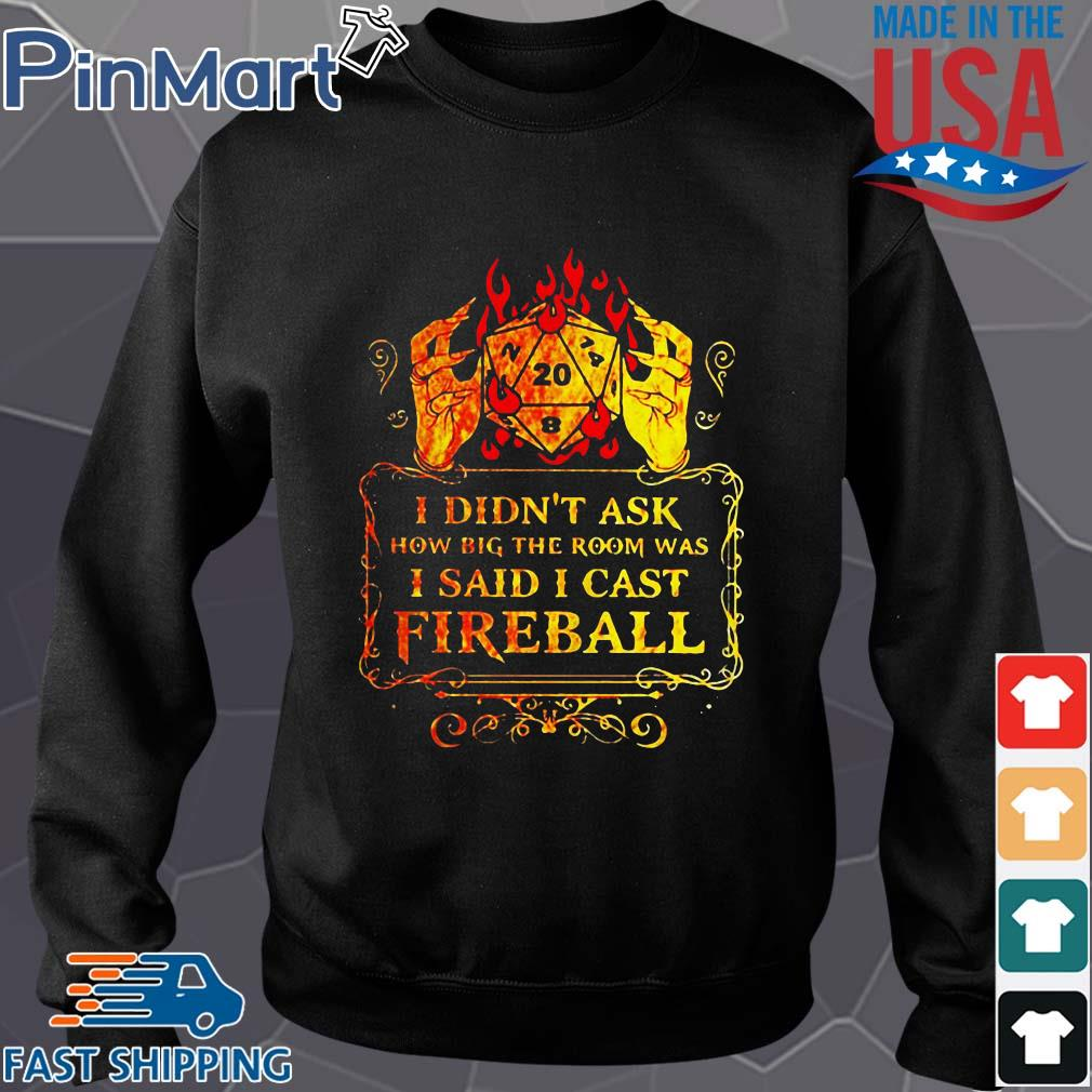 Dungeons I didn't ask how big the room was I said I cast fireball s Sweater den