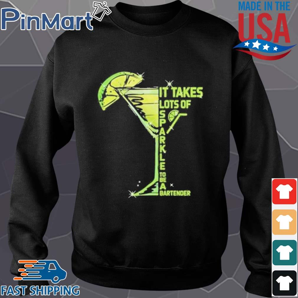 It Takes Lots Of Sparkle to Be Bartender Glass Lemon s Sweater den