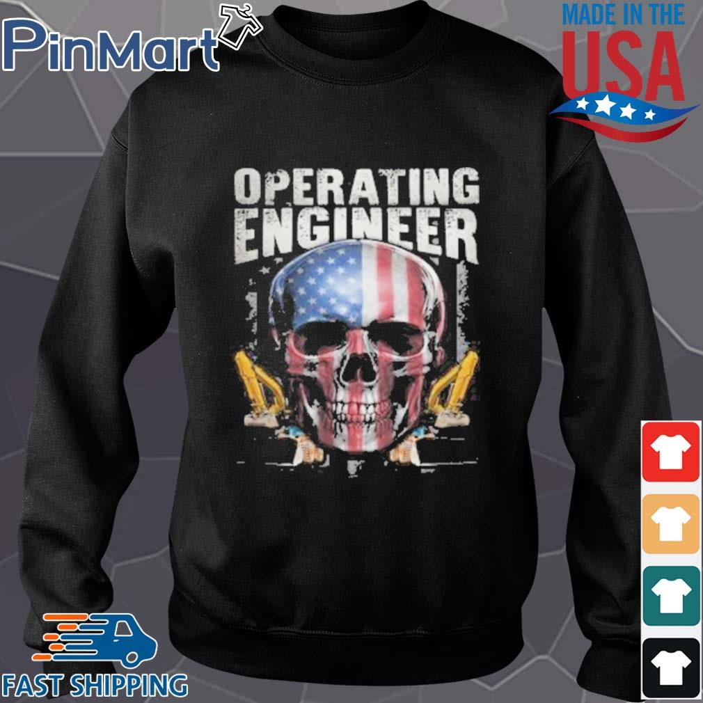 Operating Engineer Skull American Car Draw Shirt Sweater den
