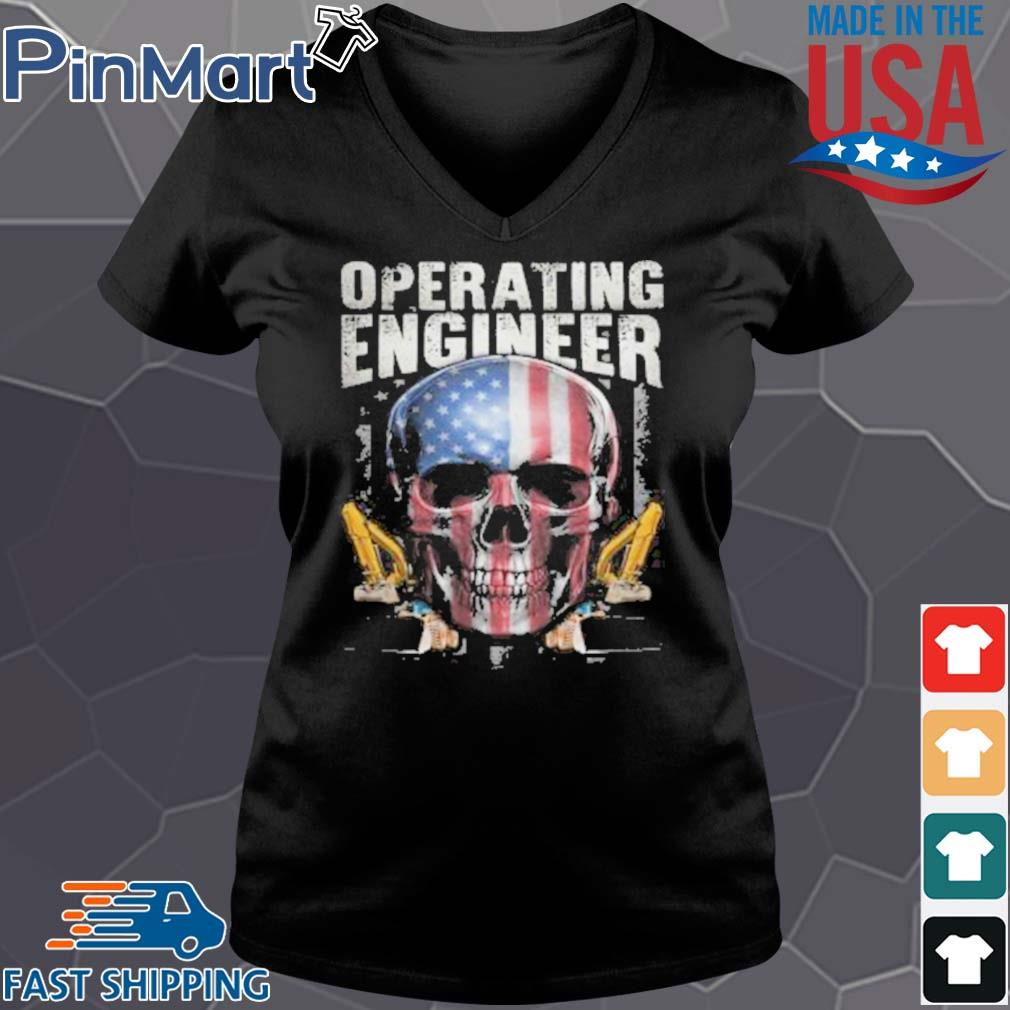 Operating Engineer Skull American Car Draw Shirt Vneck den