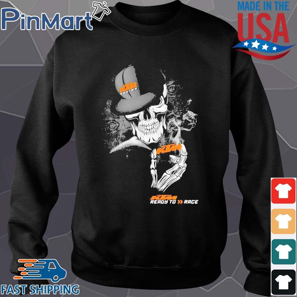Skeleton skull ktm ready to race logo s Sweater den