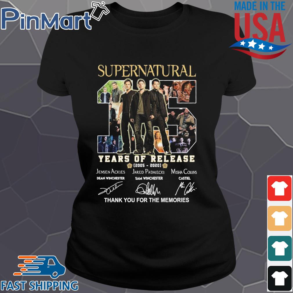 Supernatural 15 years of release 2005 2020 thank you for the memories signatures s Ladies den