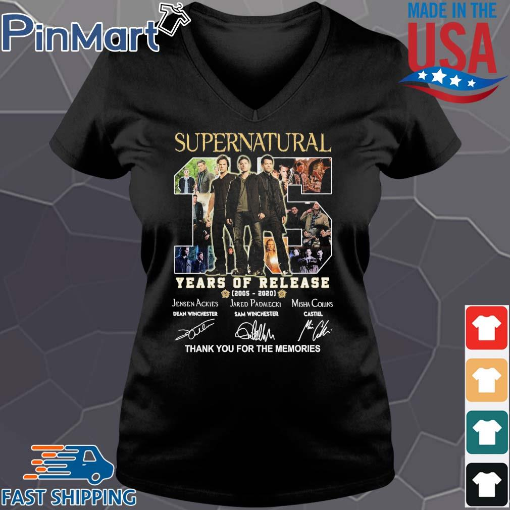 Supernatural 15 years of release 2005 2020 thank you for the memories signatures s Vneck den