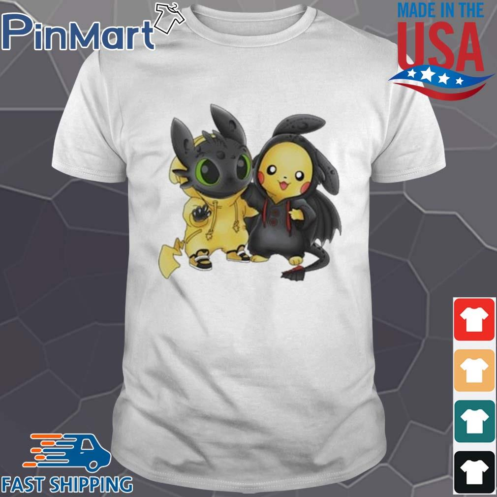 Baby Toothless and Pikachu shirt