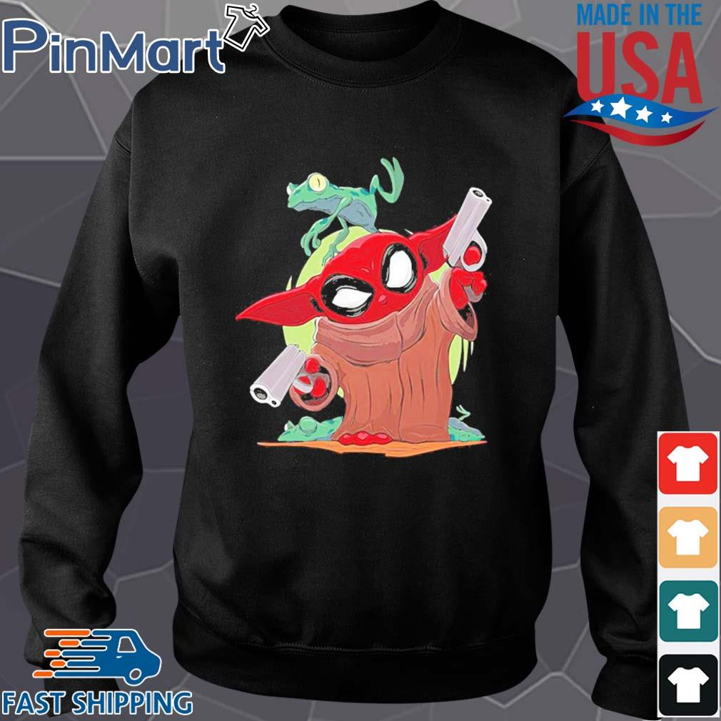 Baby yoda spiderman and frog s Sweater den