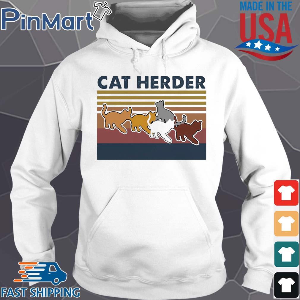 Cat herder Vintage s Hoodie trang