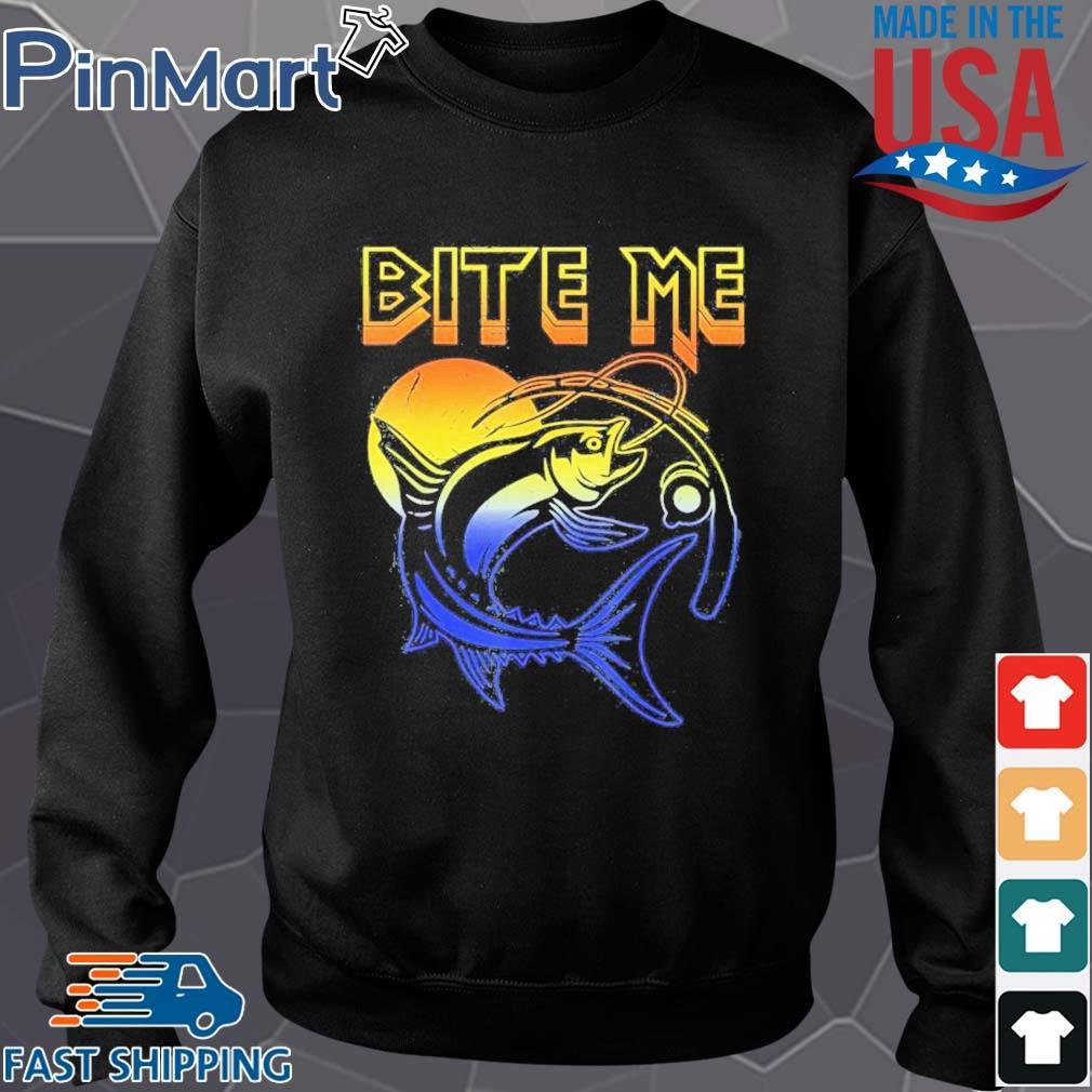 Fishing bite me moon s Sweater den