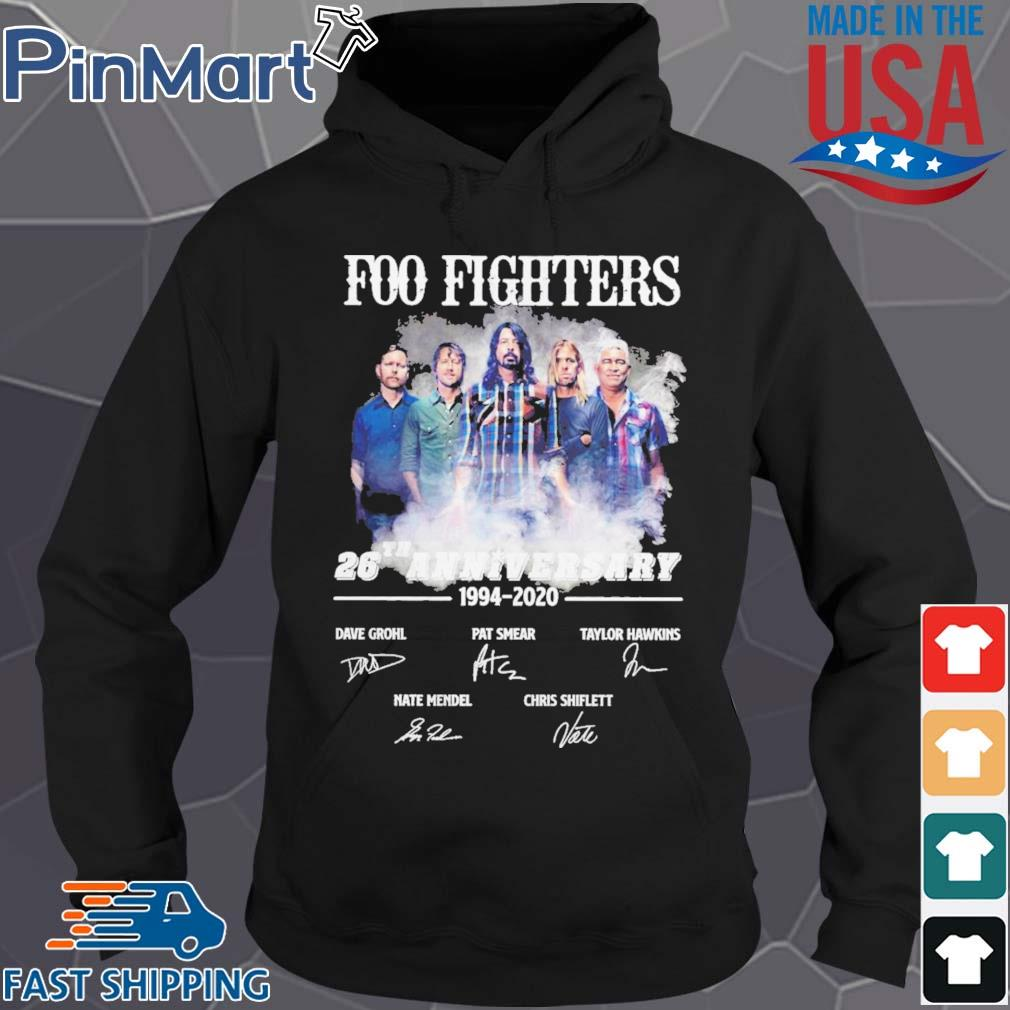 Foo Fighters 26th Anniversary 1994 2020 Signatures s Hoodie den