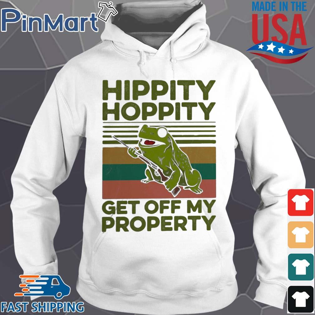 Frog hippity hoppity get off my property vintage s Hoodie trang