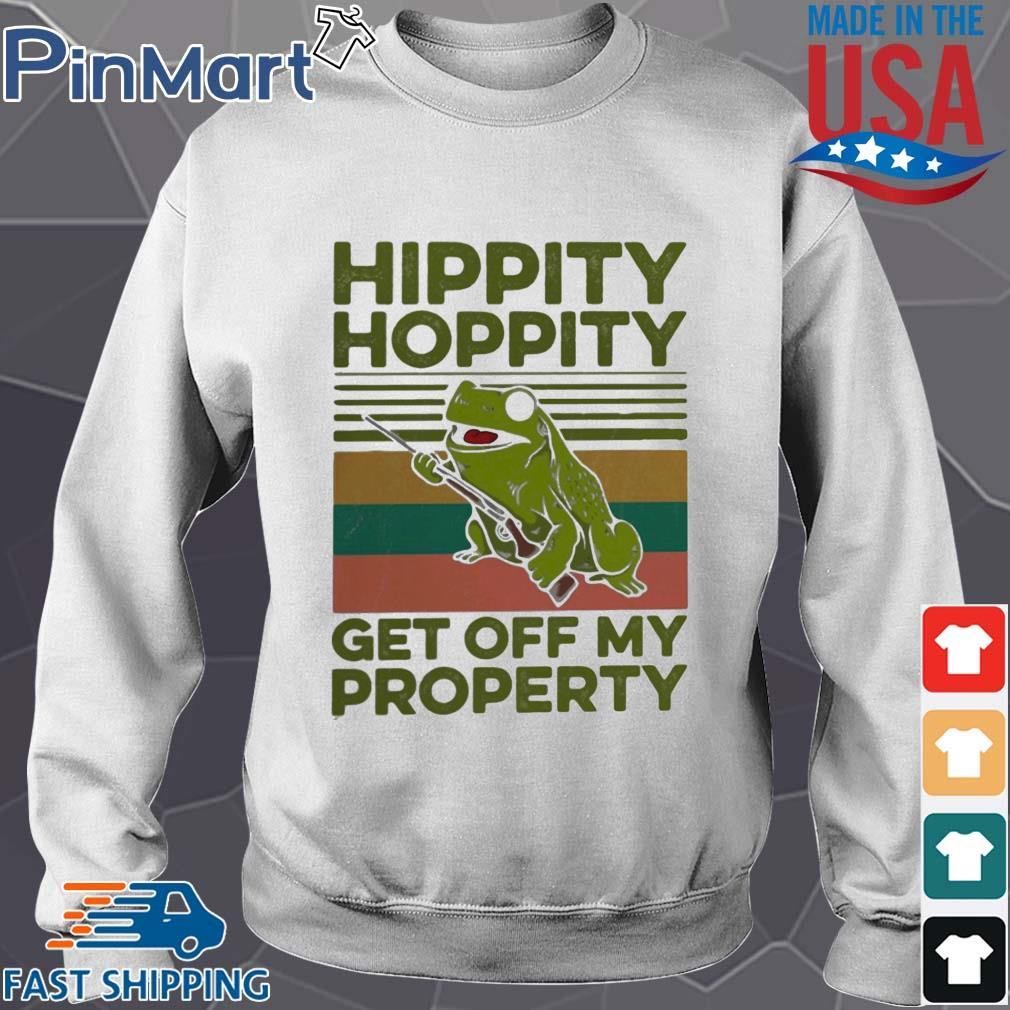 Frog hippity hoppity get off my property vintage s Sweater trang