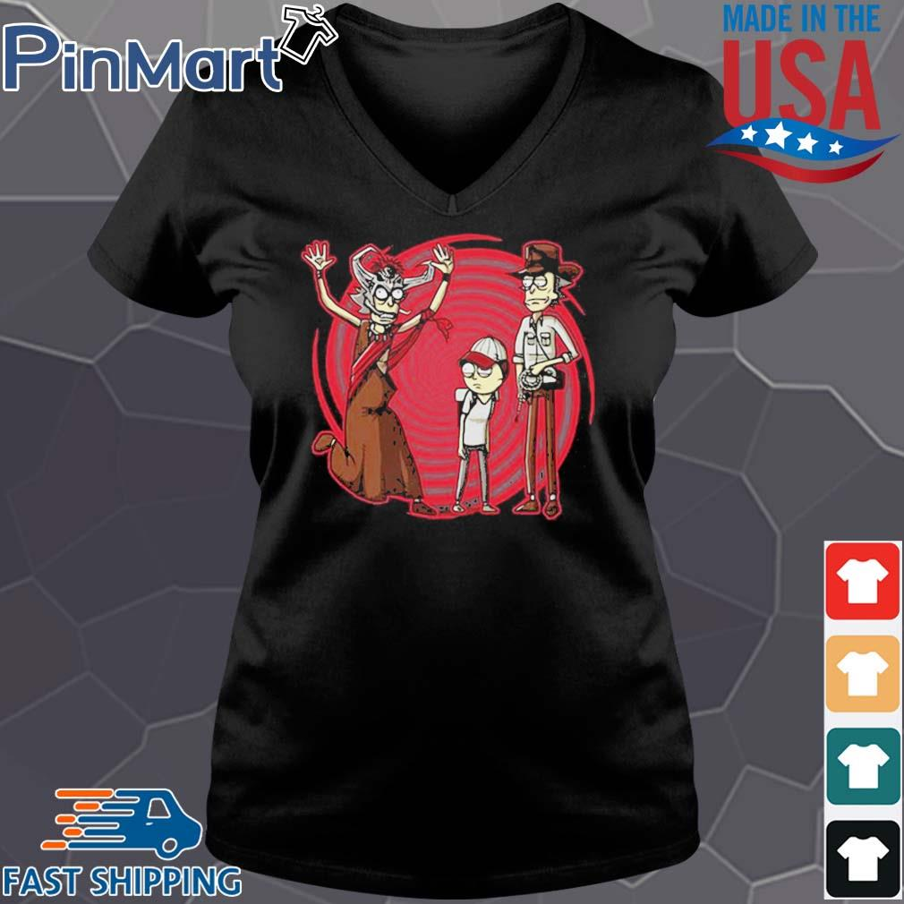 Halloween rick morty and witch s Vneck den