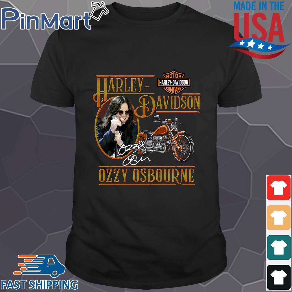 Motor Harley Davidson Cycles Ozzy Osbourne signature shirt