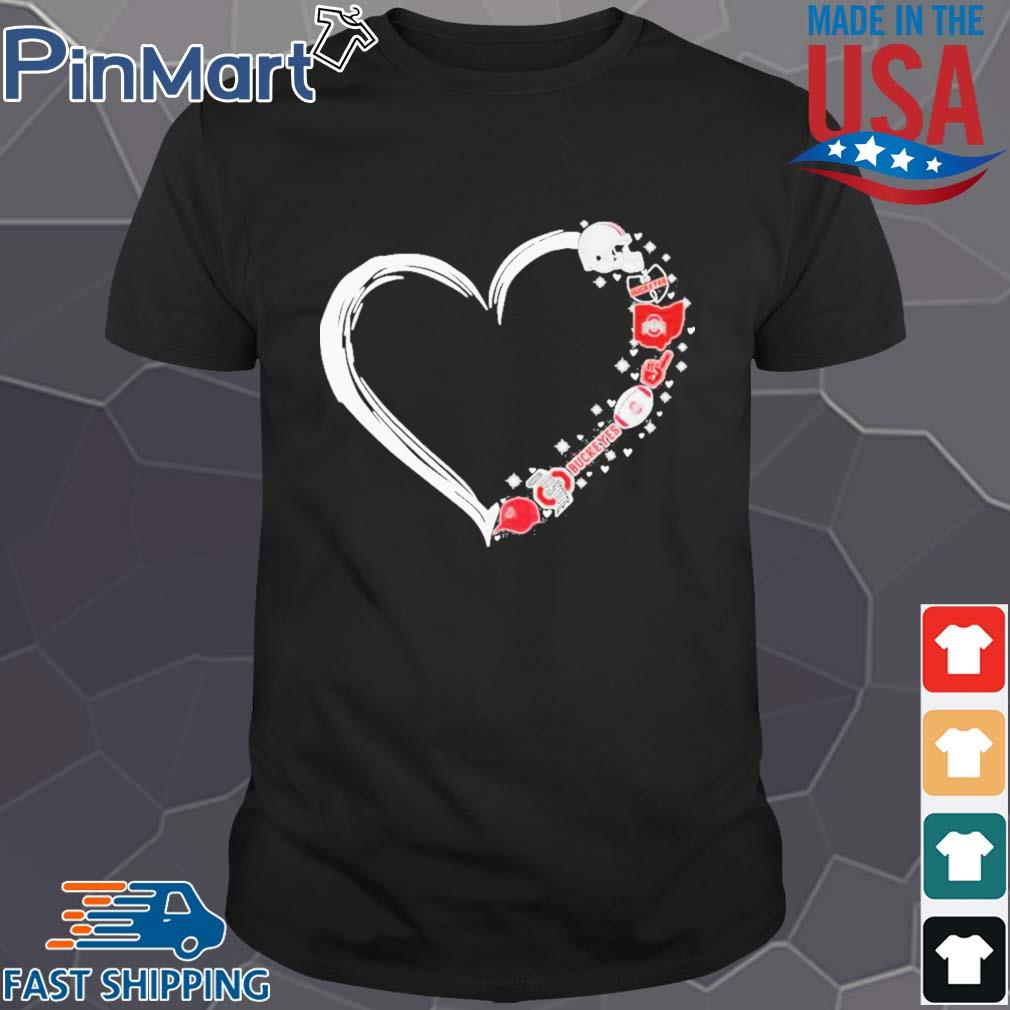 Ohio state buckeyes football hearts shirt