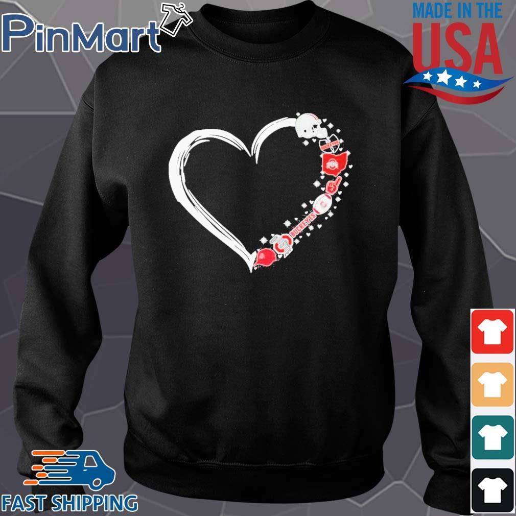 Ohio state buckeyes football hearts s Sweater den