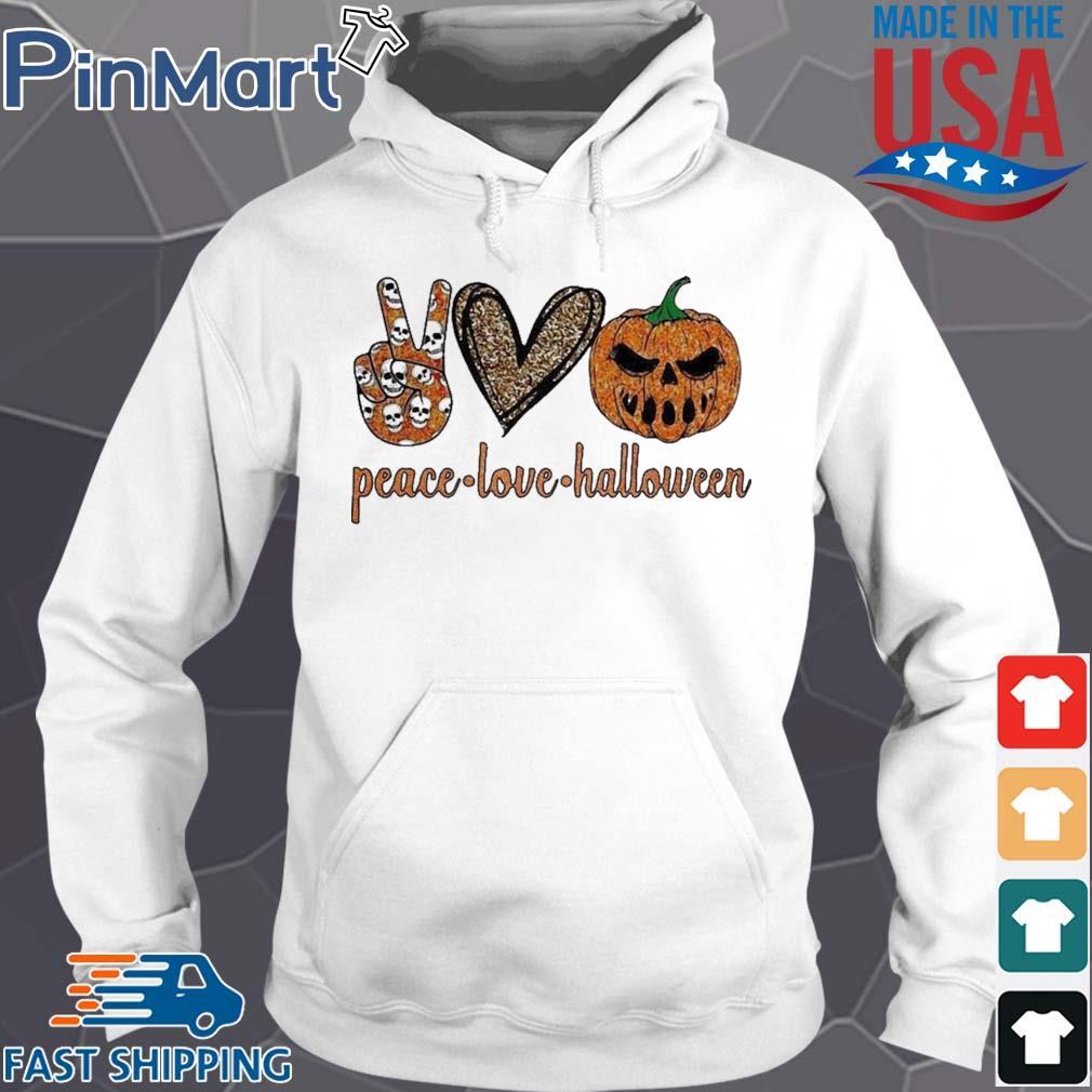 Peace Love Halloween diamond s Hoodie trang