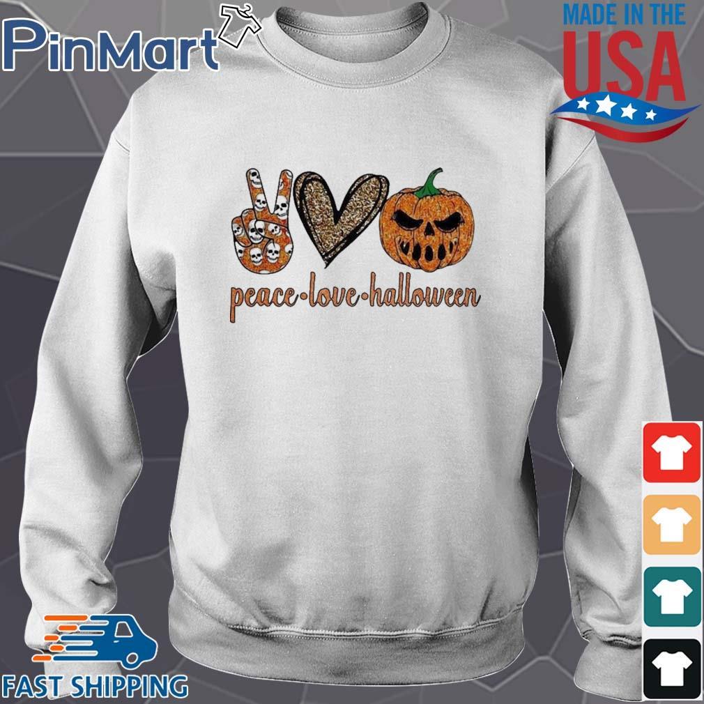 Peace Love Halloween diamond s Sweater trang